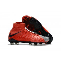 Nike Chaussures De Football Hypervenom Phantom 3 Dynamic Fit Fg - Rouge Gris
