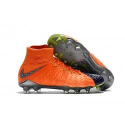 Nike Chaussures De Football Hypervenom Phantom 3 Dynamic Fit Fg Orange Bleu Noir