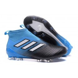 Adidas Ace17+ Purecontrol FG Chaussures de Football Bleu Noir