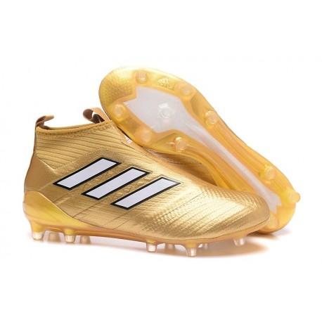 Adidas Ace17+ Purecontrol FG Chaussures de Football (Or Blanc)