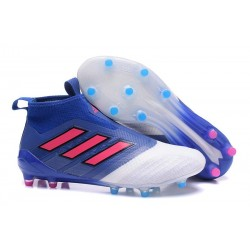 Adidas Ace17+ Purecontrol FG Chaussures de Football (Bleu Rouge Blanche)