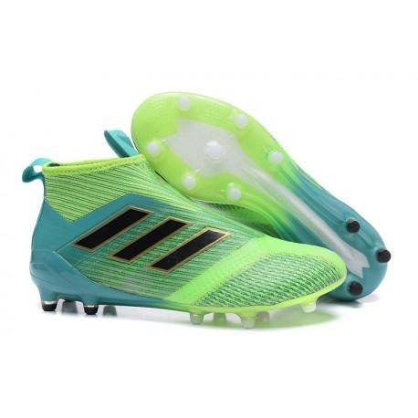 Adidas Nouveau Crampon Foot Ace17+ Purecontrol FG Vert Bleu