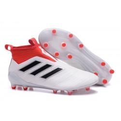 Adidas Nouveau Crampon Foot Ace17+ Purecontrol FG Blanc Noir Rouge