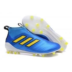 Adidas Nouveau Crampon Foot Ace17+ Purecontrol FG Bleu Jaune