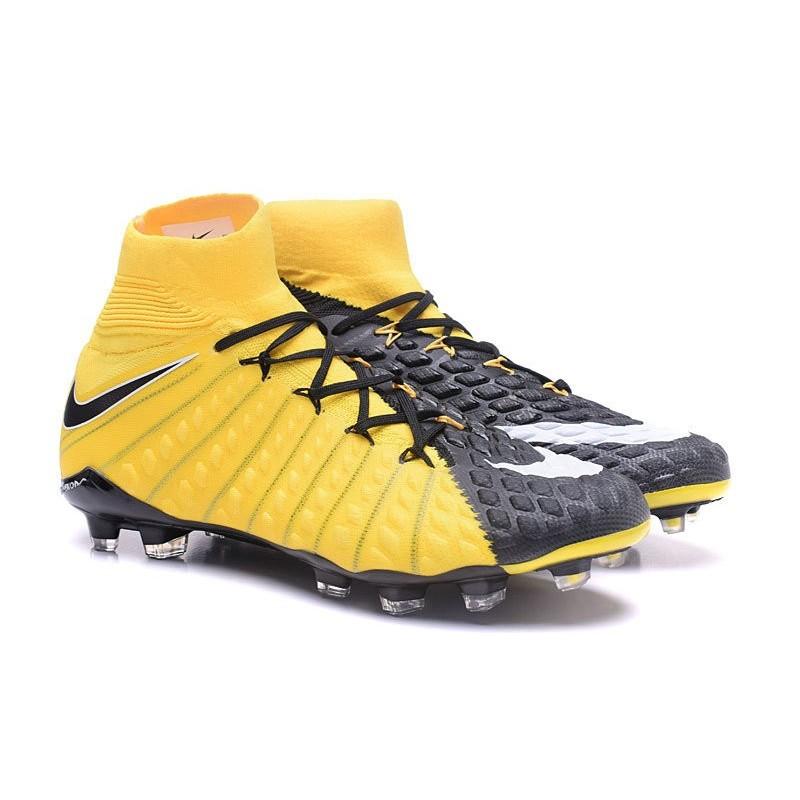 buy popular 77c27 c8776 Crampon Foot Nouveaux Nike Hypervenom Phantom III DF FG ACC - Jaune Noir