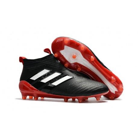 Adidas Ace17+ Purecontrol FG Nouvel Chaussure de Football Noir Blanc Rouge