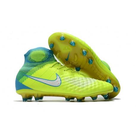 Chaussures de football pour Hommes Nike Magista Obra II FG Volt Bleu