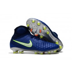 Nike Magista Obra 2 FG Nouveaux 2017 Crampons Foot Bleu Vert