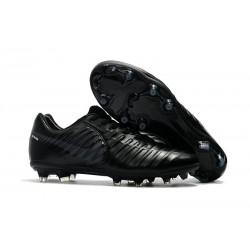 Nouvelle chaussure de foot Nike Tiempo Legend 7 FG Tout Noir