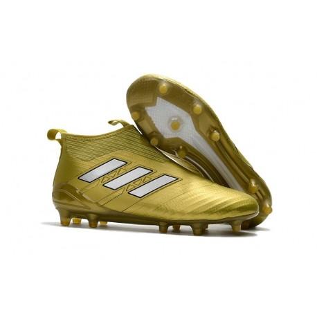 online retailer e59fb 02b8a Adidas Ace17+ Purecontrol FG Nouvel Chaussure de Football Or