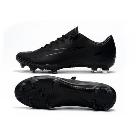 Nouvelle Crampons de Football Nike Mercurial Vapor X FG Noir Volt