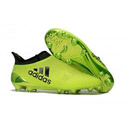 Nouvelle Crampons de Football adidas X 17+ Purespeed FG Vert Noir