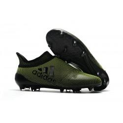 Nouvelle Crampons de Football adidas X 17+ Purespeed FG Vert Foncé Noir