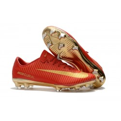 Nike Mercurial Vapor XI FG ACC Crampon Homme CR7 Or Rouge