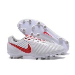 Nouvelle chaussure de foot Nike Tiempo Legend 7 FG Blanc Rouge