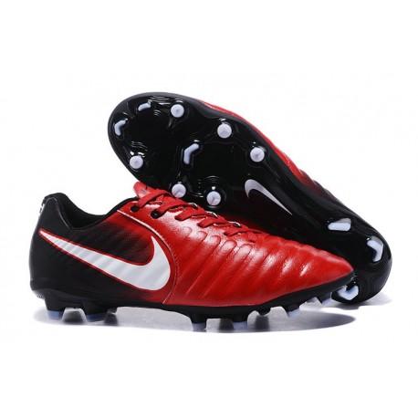 Nouvelle chaussure de foot Nike Tiempo Legend 7 FG Rouge Noir Blanc