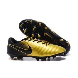 Nouvelle chaussure de foot Nike Tiempo Legend 7 FG Or Noir