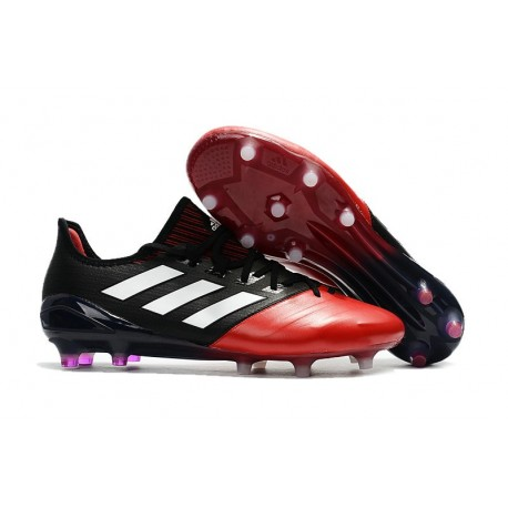 Nouveau Crampons de Football Adidas Ace 17.1 FG Noir Rouge Blanc