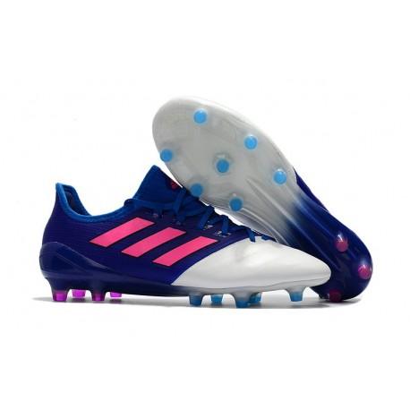 Nouveau Crampons de Football Adidas Ace 17.1 FG Bleu Rose Blanc