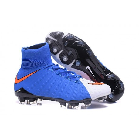 Crampon Foot Nouveaux Nike Hypervenom Phantom III DF FG ACC - Rouge Bleu Blanc