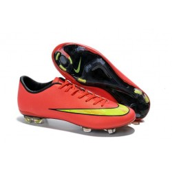 Chaussure de Football Hommes Nike Mercurial Vapor X FG Or Volt Punch