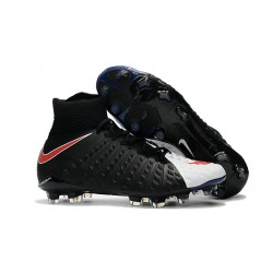 Crampon Foot Nouveaux Nike Hypervenom Phantom III DF FG ACC - Noir Blanc Rouge