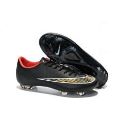 Chaussure de Football sol dur Nike Mercurial Vapor X FG Noir Or