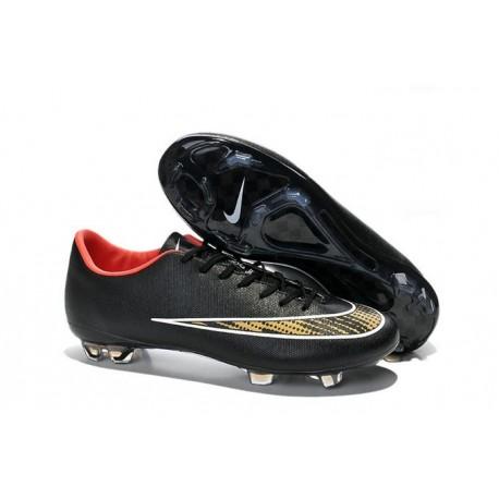 Chaussure de Football sol dur Nike Mercurial Vapor X FG Noir Or