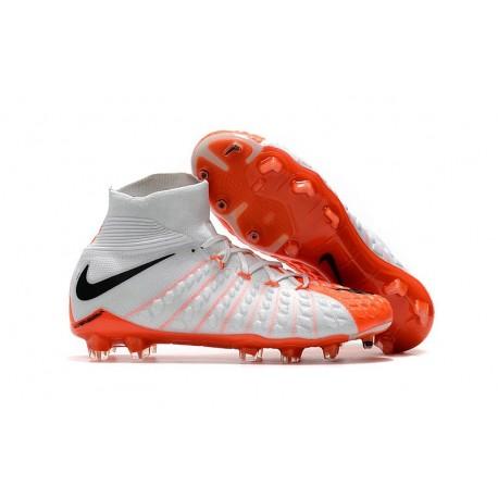 Crampon Foot Nouveaux Nike Hypervenom Phantom III DF FG ACC - Blanc Orange Noir