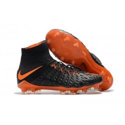 Crampon Foot Nouveaux Nike Hypervenom Phantom III DF FG ACC - Orange Noir