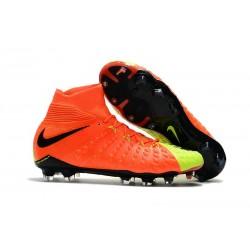 Crampon Foot Nouveaux Nike Hypervenom Phantom III DF FG ACC - Orange Volt Noir