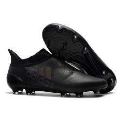 2016 Chaussures de football Adidas X 16+ Purechaos FG/AG Tout Noir