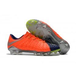 Nouvelles Crampons de Football Nike Hypervenom Phantom III FG Orange Bleu Argent