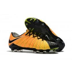 Nouvelles Crampons de Football Nike Hypervenom Phantom III FG Jaune Noir