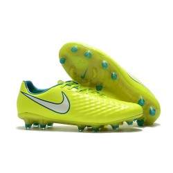 Nouveau Crampons Foot Nike Magista Opus II FG Chaussures Volt Blanc