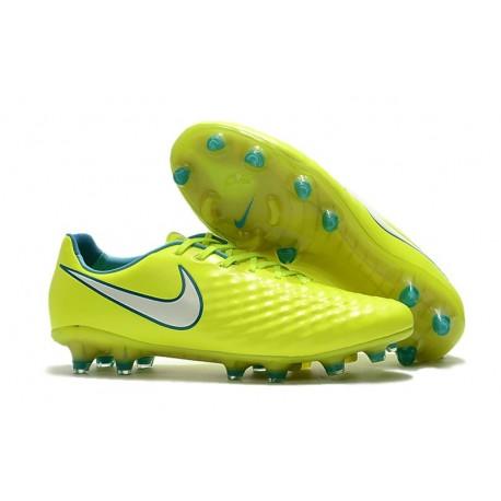 Nouveau Crampons Foot Nike Magista Opus II FG Chaussures Volt Blanc