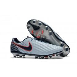 2017 Chaussure de Football Nike Magista Opus II FG Hommes Gris Noir Rouge