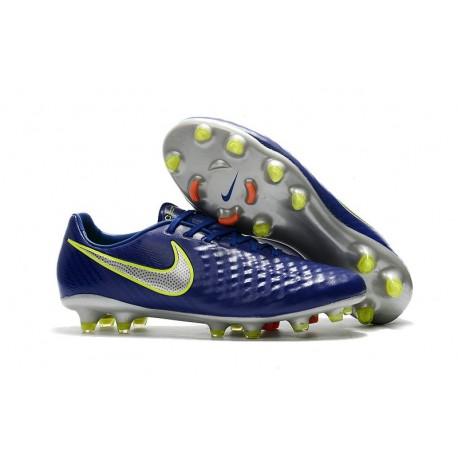 2017 Chaussure de Football Nike Magista Opus II FG Hommes Bleu Volt Argent