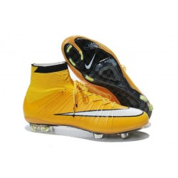 Coupe du monde 2015 Chaussures Nike Mercurial Superfly FG Jaune Blanc
