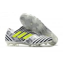 Chaussure de Football pour Hommes - adidas Nemeziz 17+ 360 Agility FG Blanc Jaune Noir
