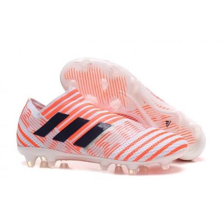 Chaussure de Football pour Hommes - adidas Nemeziz 17+ 360 Agility FG Orange Noir Blanc