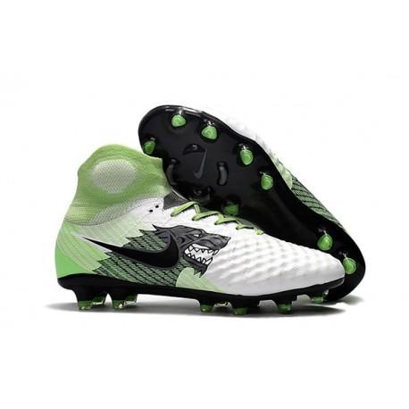 Nike Magista Obra 2 FG Nouveaux 2017 Crampons Foot Blanc Vert Noir