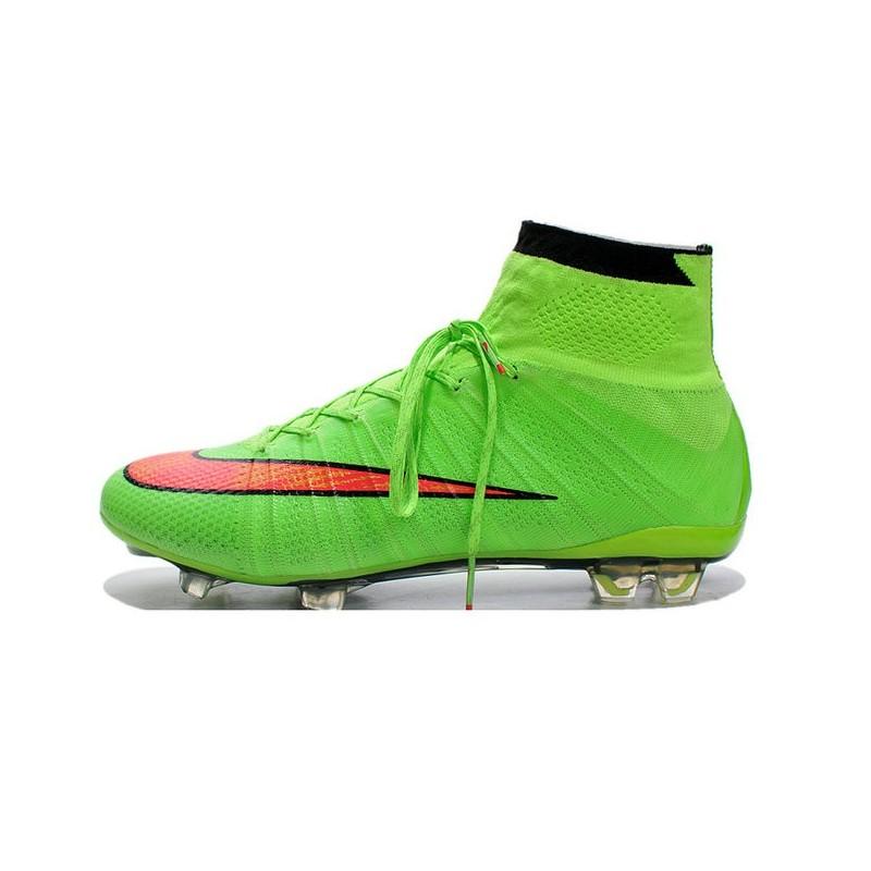 super popular a6369 aba8d ... discount code for nouveau chaussures de football nike mercurial  superfly iv fg vert orange c660d 5739e ...