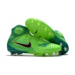 Nike Magista Obra 2 FG Nouveaux 2017 Crampons Foot Vert Noir