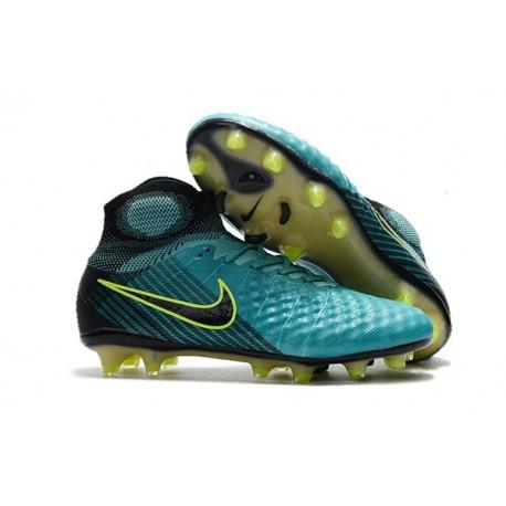 Nike Magista Obra 2 FG Nouveaux 2017 Crampons Foot Bleu Volt Noir
