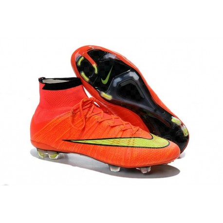 Coupe du monde 2015 Chaussures Nike Mercurial Superfly FG Orange Jaune