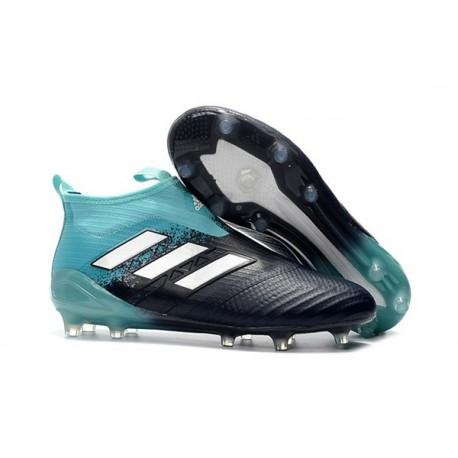 Adidas Ace17+ Purecontrol FG Chaussure de Football Uomo Energy Aqua Blanc Legend Ink
