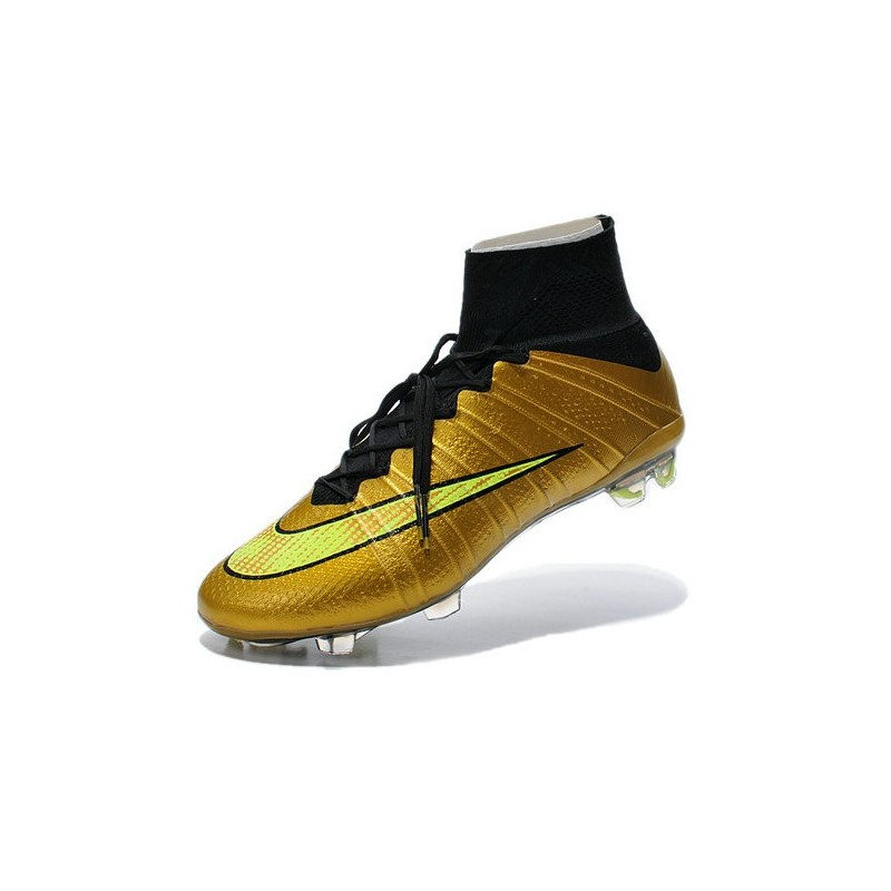 nouveau chaussures de football nike mercurial superfly 4 fg or volt noir. Black Bedroom Furniture Sets. Home Design Ideas