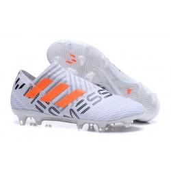 Chaussure de Football pour Hommes - adidas Nemeziz 17+ 360 Agility FG Blanc Orange Gris