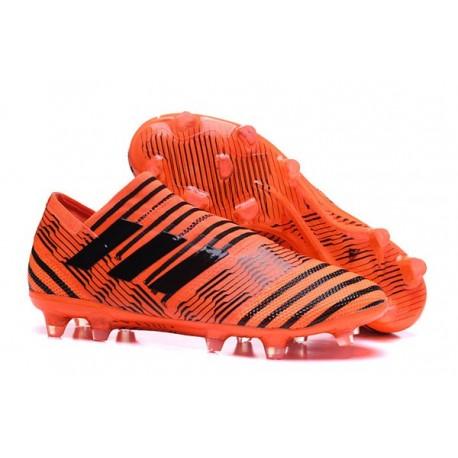 Chaussure de Football pour Hommes - adidas Nemeziz 17+ 360 Agility FG Orange Noir
